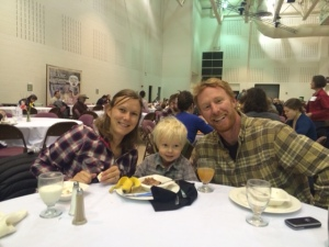 Breakfast at the farming conference