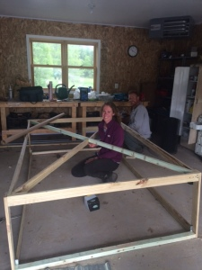 Building the chicken tractor